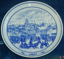 HUTSCHENREUTHER GERMANY COLLECTOR PLATE WEIHNACHTSMARKT 1985 LTD EDITION