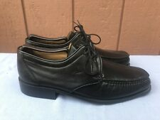 RARE NEW BALLY of Switzerland BIASCO Black Lace-up Square-toed Oxford Shoe