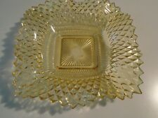 Vintage Amber Gold  Ruffled Glass Candy Dish lot of 2 clean items 1960 no damage