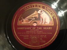 """REGINALD FOORT """"Sanctuary Of The Heart""""/""""In A Chinese Temple Garden"""" 78rpm 12"""""""