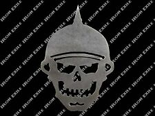 RAT ROD HOT ROD CHOPPER  MOTORCYCLE 2in X 1 1//2in .HELMET STICKER DEATH SKULL