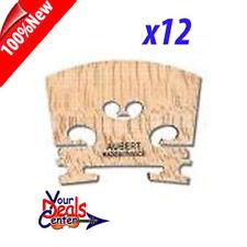 "Dozen  Aubert Violin Bridge 4/4  ""Made in France"" 12 PC"
