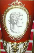 Ugo Zaccagnini Italian Pottery Footed Vase Roman Portrait 1937-1950's Vintage
