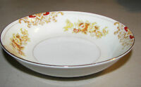 """Vintage Meito Hand Painted China 5 1/2"""" Fruit/Dessert Bowl Yellow & Pink Flowers"""