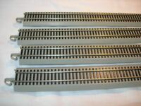 "FOUR BACHMANN E-Z TRACK HO 36"" LONG STRAIGHTS nickel silver w/roadbed 44584 NEW"