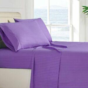 4 Piece Bed Sheets Deep Pocket Egyptian Comfort Ultra Soft Microfiber Sheet Set