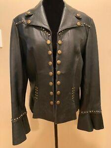 Double D Ranch Black Leather Jacket