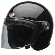 Bell Riot Gloss Black Open Face Powersports Motorcycle Helmet Small