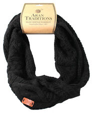 Aran Traditions Womans Ladies Men Winter Warm Knitted Style Black Snood
