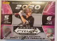 ✅⚾️🔥2020 Panini Prizm Draft Picks Baseball Retail Blaster Box Factory Sealed