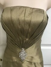 Mon Cheri Montage Bronze Gold 100 Silk Seguence Mother of the Bride Gown Sz 8