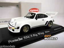 PORSCHE 934 / 5 BIG WING -1/43 SCALE KYOSHO MODEL CAR IN WHITE 03174W