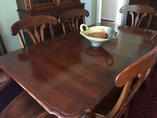Dining room furniture, table with chairs and china cabinet, Nichols and Stone