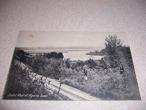 1910 SCENE WEST of ALGONA IOWA ANTIQUE POSTCARD