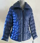 Women's Navy Blue Kenneth Cole Reaction Down Ruched Packable Jacket XL, XXL