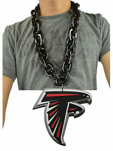 Atlanta Falcons NFL BLACK FanChain Necklace Big Rope Chain 3D Foam Magnet