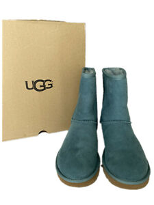 UGG Classic II Genuine Shearling Lined Short Boot Teal Size 7