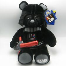 "Build A Bear Darth Vader Plush 17"" Black Teddy Bab Star Wars Light Sound Disney"