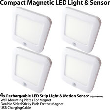 4x Rechargeable Magnetic LED Light & Motion Sensor – Cupboard/Cabinet Mini Spot