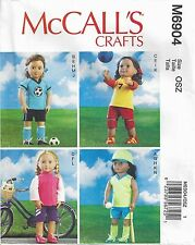 McCall's 6904 18 inch Doll Clothes Pattern American Sports Baseball Soccer