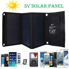 Vodool 21W 5V/2A Solar Panel 2 MIC Port Solar Power Bank Pack Charger for iPhone