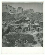 Old Photo Ancient village with Caves Stone Building Unknown Judea ? Palestine