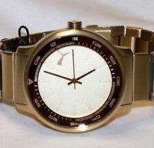 Authentic Puma PU103412002 Cruise Watch Gold Tone Stainless Steel Quartz Unisex