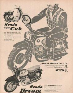 1959 Honda Dream & Super Cub - Vintage Motorcycle Ad