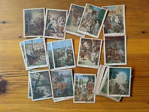 Vintage 1930's Christian HOLY CARDS Bible Scenes Chinese Printed Text Missionary