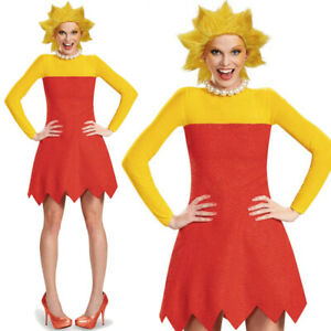 LADIES LISA SIMPSON COSTUME THE SIMPSONS FANCY DRESS TV CARTOON HALLOWEEN OUTFIT