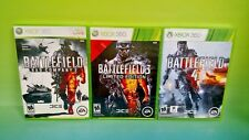 Battlefield 2 3 4 Game Lot Bundle Microsoft Xbox 360 Complete Tested EA Shooters