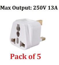 5 x Universal Travel Adapter AU US EU to UK Adapter Converter 3 Pin Plug Adaptor