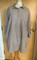 Seasalt Ladies Blouse Top Shirt 18 New Long Pockets Arty Boatbuilder Tunic