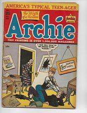 ARCHIE COMICS 21 - VG- 3.5 - VERONICA - JUGHEAD - BETTY (1946)