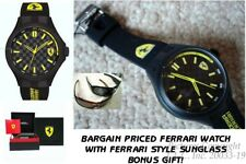 NEW Scuderia Ferrari 0830286 Carbon Fiber Pit Crew Silicone Rubber Mens Watch