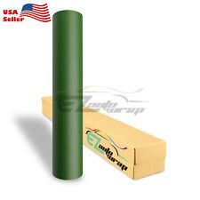 "4""x8"" Sample Matte Flat Army Green Car Vinyl Wrap Sticker Decal Air Bubble Free"