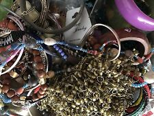 Box 2 Approx 10 lbs mixed Jewelry Junk Drawer Unsearched Unsorted Medium Flat