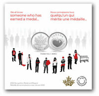 2020 Canada Recognition Medal Coin & Magnet Unique Keepsake Wearable Medallion