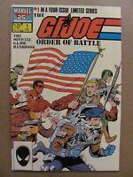 GI Joe Order of Battle #1 Marvel Comics 1986 Series 9.2 Near Mint-