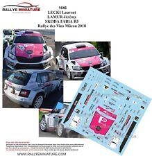 DECALS 1/43 REF 1646 SKODA FABIA R5 LECKI Rallye des Vins Mâcon 2018
