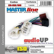 CONNETTORE ISO RADIO ORIGINALE NISSAN PATHFINDER DAL 2001 AL 2004. MASTERLINE