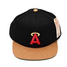 9b37c262 Los Angeles Angels Baseball Flat Brim Black Halo MLB Hat Cap Adjustable  Snapback