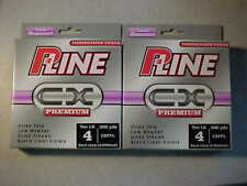 4 spool Lot NEW P-LINE CXX CRYSTAL CLEAR X-TRA STRONG FISHING LINE 600 YARDS X4