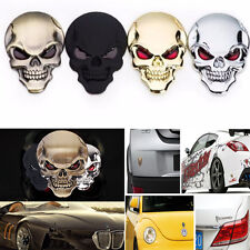 Cool Skull Skeleton Car/Motorcycle Decal Devil 3D Metal Sticker Emblem Badge Hot