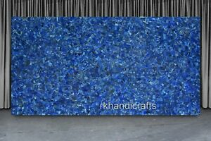 30 x 60 Inches Blue Marble Conference Table Top Random Work Stone Dining Table