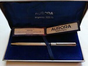 Vintage AURORA Italy Marco Polo Ballpoint Pen 925 Sterling Silver