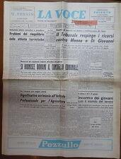 LA VOCE DI SALERNO 28 gennaio 1968 Turismo Menna e Di Giovanni Alfonso Grassi