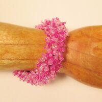 25PC WHOLESALE LOT Handmade Beaded Stretch Elastic Stretch Pink Bracelets