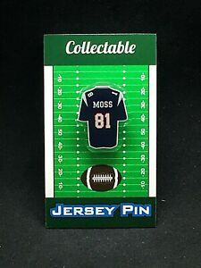 New England Patriots Randy Moss jersey lapel pin-Classic team Collectable
