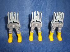 Playmobil 4 x Beine kurze Hose Gürtel braune Beine Stiefel schwarz unbespielt